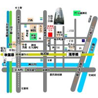 秋葉原スクエアビルの地図マップ所在地住所 ウェブサイト掲載用JPEG形式 フリー素材