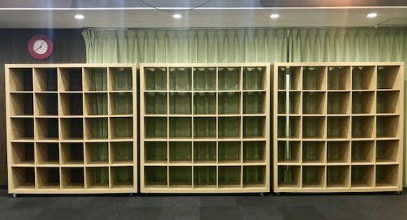 秋葉原イベントスペース BOX棚 収納棚 荷物置き場