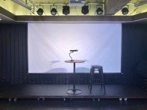 トークショー ステージ スクリーン 備品 秋葉原レンタルスペース