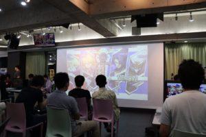 秋葉原の展示会会場 大型スクリーン TVモニター