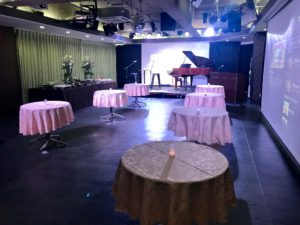 ピアノコンサート ケータリング 秋葉原貸しホール