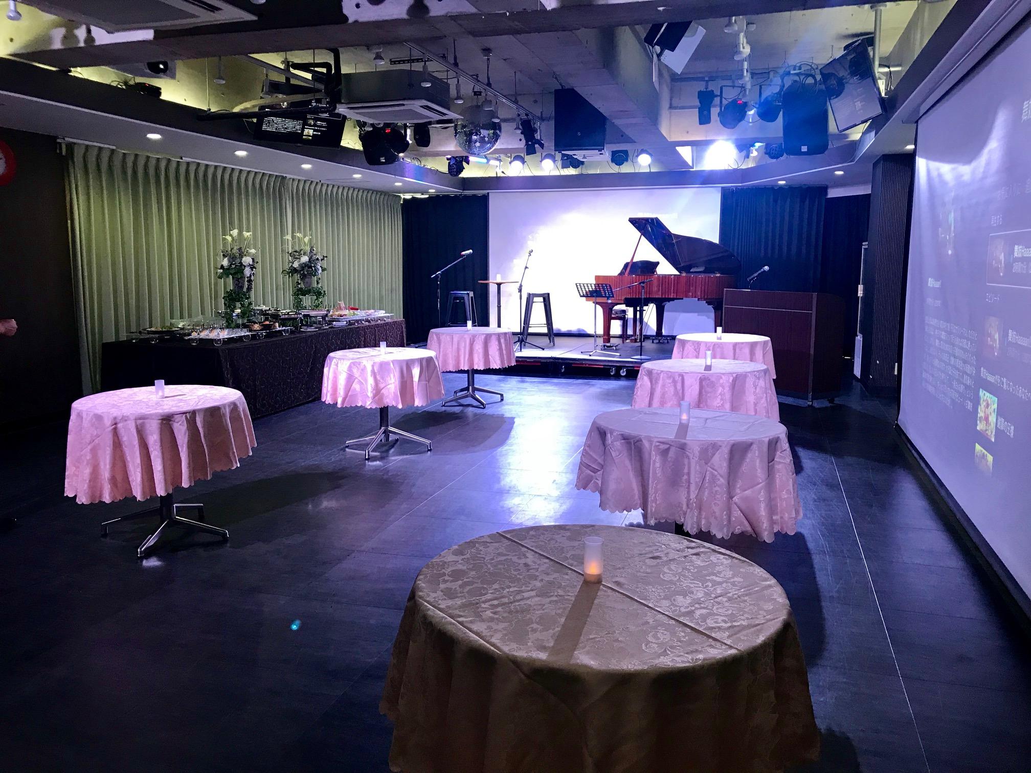 パーティー コンサート会場 グランドピアノ