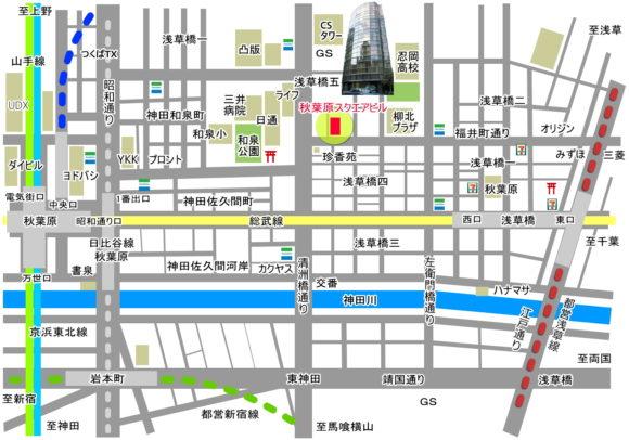 地図 素材 秋葉原スクエアビル JPG