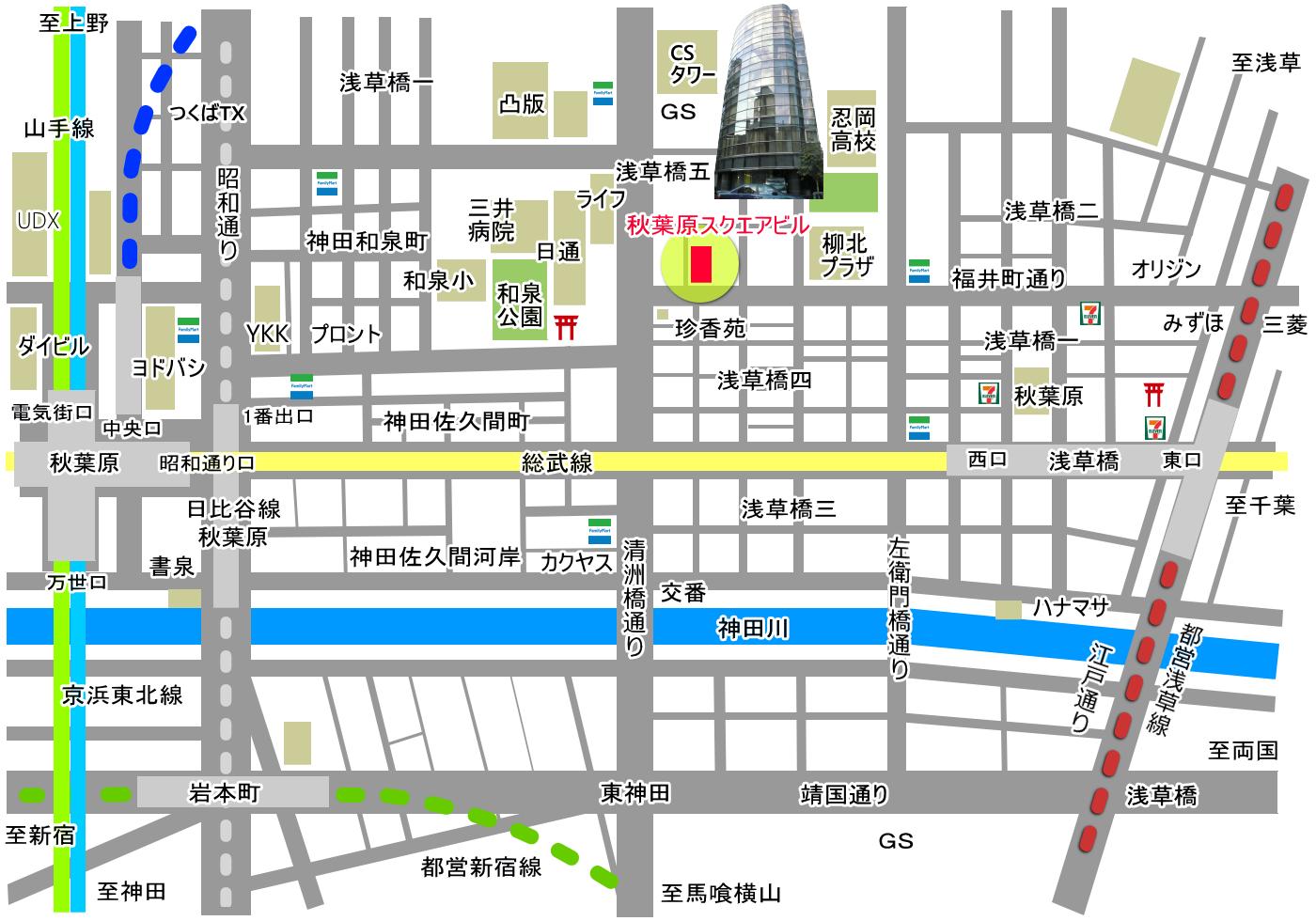 地図 素材 秋葉原スクエアビル PNG