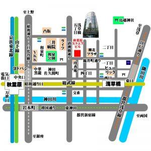 地図 マップ 所在地 住所 案内図 秋葉原ハンドレッドスクエア倶楽部地図