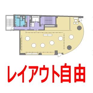 自由レイアウトできる広いレンタルスペースのイメージ